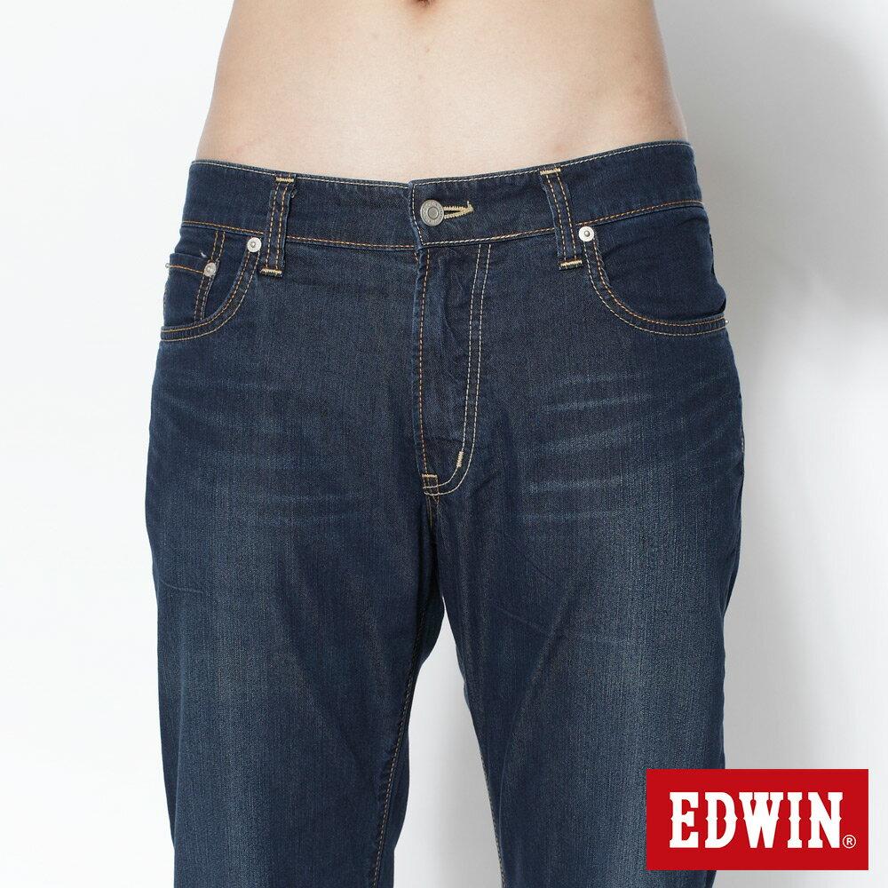 EDWIN COOL RELAX 大尺碼  中直筒牛仔褲-男款 中古藍 STRAIGHT 零碼 5