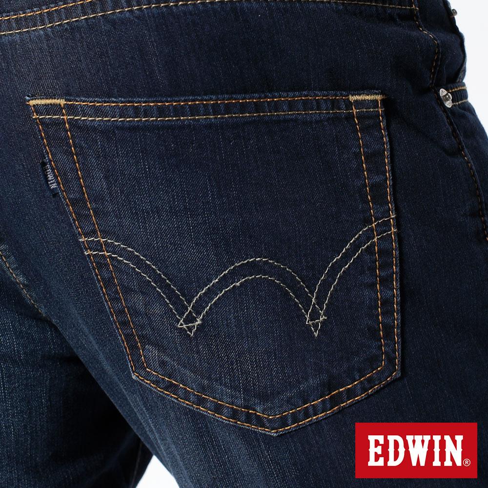 EDWIN COOL RELAX 大尺碼  中直筒牛仔褲-男款 中古藍 STRAIGHT 零碼 9