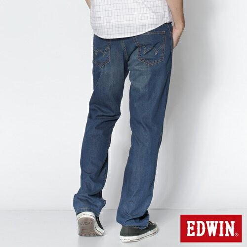 【夏日丹寧企劃。2件1500元↘】【大尺碼】EDWIN COOL RELAX 中直筒牛仔褲-男款 石洗藍【單件特惠 990】【若符合搭售組合活動優惠,則無法再使用優惠券折抵】 1
