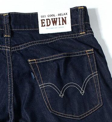 【5折優惠↘】 EDWIN COOL RELAX直筒褲-男款 原藍磨【單筆滿1500 | 結帳輸入序號Nov-edwin再折200↘數量有限↘限用一次】 2