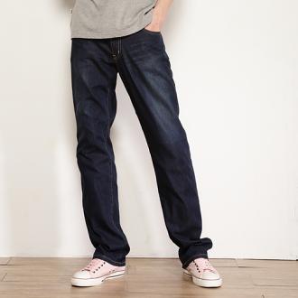 【獨家款式。990元特惠↘】EDWIN COOL RELAX直筒褲-男款 中古藍