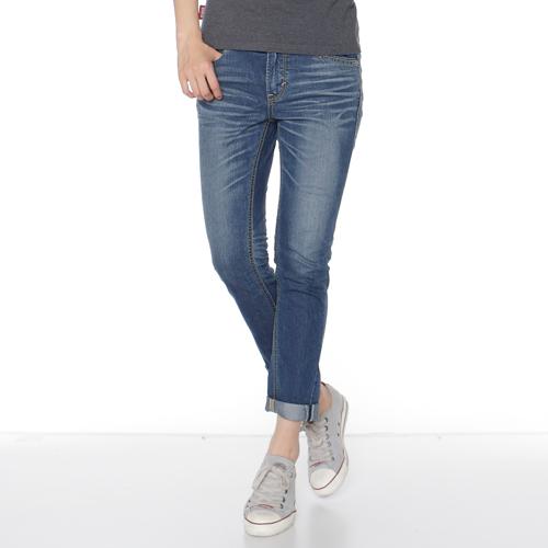 Miss EDWIN 503 混紡涼感 AB牛仔褲-女款 拔洗藍 TAPERED 《7月APP結帳限定折扣》單件憑序號「19Jul50折50元」 [限一次]| 任選2件組合價1500元 0