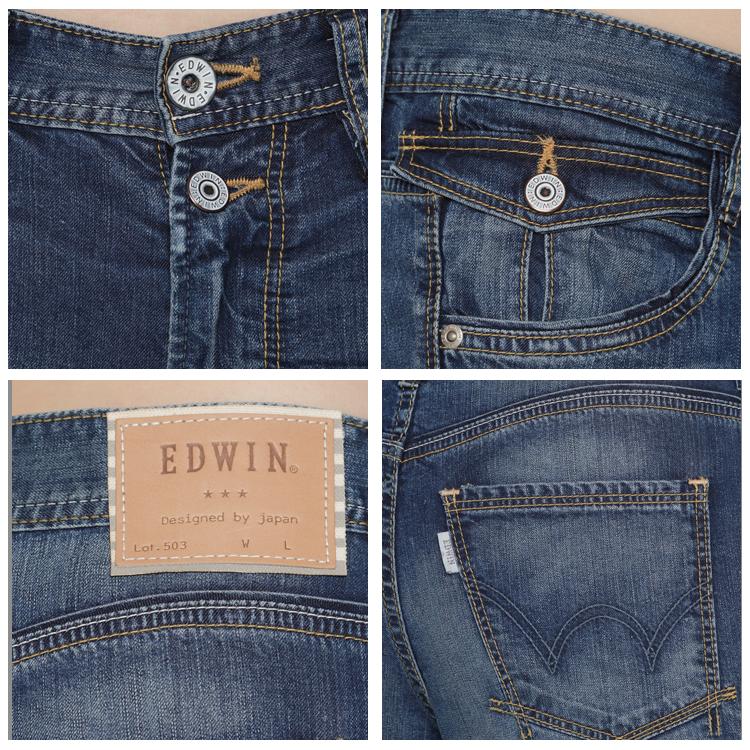 Miss EDWIN 503 混紡涼感 AB牛仔褲-女款 拔洗藍 TAPERED 《7月APP結帳限定折扣》單件憑序號「19Jul50折50元」 [限一次]| 任選2件組合價1500元 1