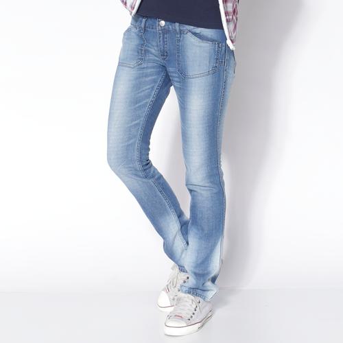 【夏日丹寧企劃。2件1500元↘】EDWIN COOL RELAX 雙面穿窄管牛仔褲-女款 石洗藍 SILM【單件特惠 990】【若符合搭售組合活動優惠,則無法再使用優惠券折抵】 0