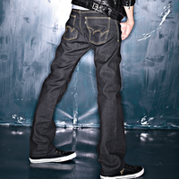 EDWIN 大尺碼 直筒牛仔褲 男款 黑色