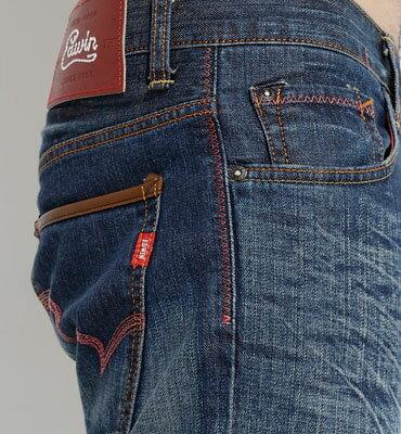 EDWIN 503 EDGE LINE 輕鬆牛仔 中直筒牛仔褲-男款 中古藍 零碼 STRAIGHT 2