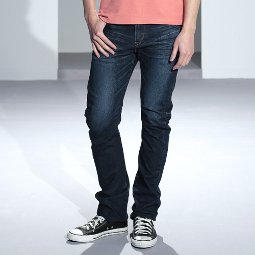【5折優惠↘】輕鬆牛仔 EDWIN E-FUNCTION ZERO 直筒褲-男款 中古藍 0