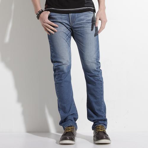 【5折優惠↘】輕鬆牛仔 EDWIN E-FUNCTION ZERO 直筒褲-男款 拔淺藍 0