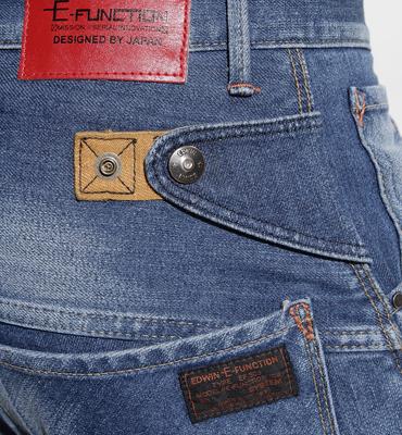 【5折優惠↘】輕鬆牛仔 EDWIN E-FUNCTION ZERO 直筒褲-男款 拔淺藍 2