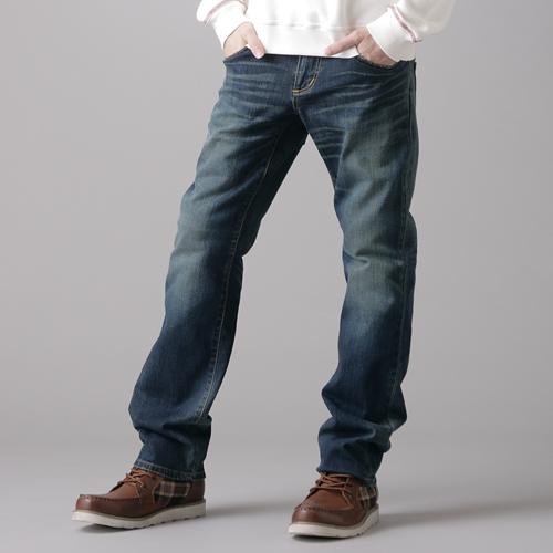 【990元優惠↘】EDWIN BLUE TRIP 牛皮袋蓋牛仔褲-男款 中古藍【APP下單滿799輸入代碼APP170622折100元↘序號限用一次↘】