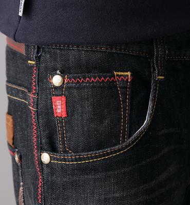 【1290元優惠↘】EDWIN BLUE TRIP 牛皮袋蓋牛仔褲-男款 灰色 1