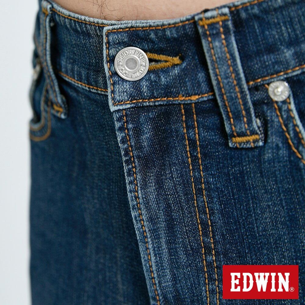 EDWIN 503 FLEX 基本款 中直筒牛仔褲-男款 中古藍 STRAIGHT 6