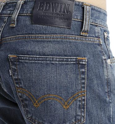 EDWIN 503 基本款牛仔褲-男款 漂淺藍 2