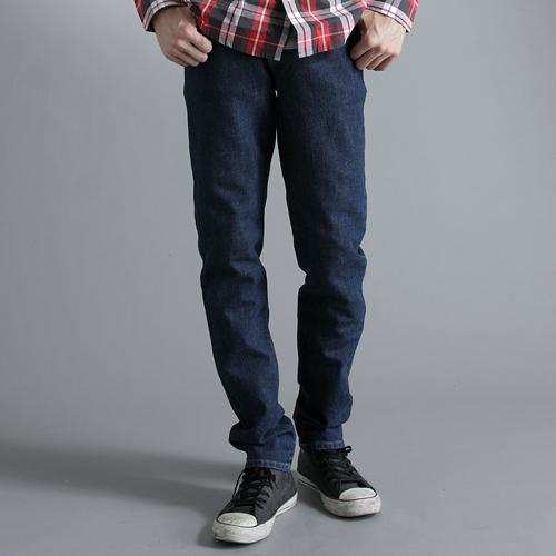 【丹寧買一送一↘】EDWIN 503 FLEX 窄管牛仔褲-男款 酵洗藍