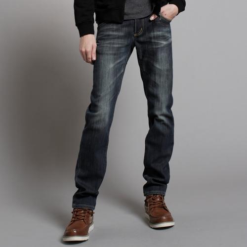 EDWIN BLUE TRIP W.F保溫窄直筒牛仔褲-男款 原藍磨 SILM 0