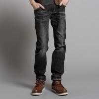 EDWIN BLUE 保溫 直筒牛仔褲 男款 灰色
