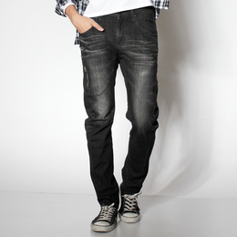EDWIN E-FUNCTION 基本款 窄直筒牛仔褲-男款 中灰色 SILM