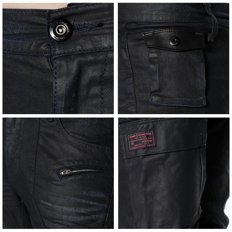 【5折優惠↘】EDWIN E-FUNCTION 窄管牛仔褲-男款 原藍磨 1