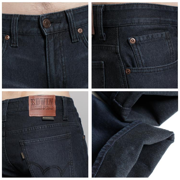 EDWIN 503 ZERO W.F 雷射保溫中直筒褲(內裡刷毛)-男款 原藍色 1