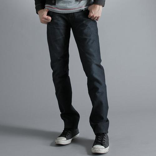 EDWIN 503 ZERO W.F 雷射保溫中直筒褲(內裡刷毛)-男款 酵洗藍 零碼 0