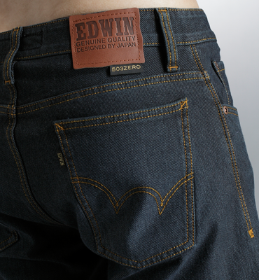 EDWIN 503 ZERO W.F 雷射保溫中直筒褲(內裡刷毛)-男款 酵洗藍 零碼 1