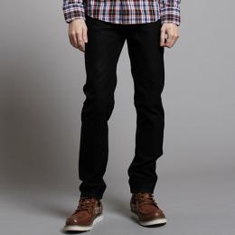 EDWIN 503 ZERO W.F 雷射保溫中直筒褲(內裡刷毛)-男款 黑色
