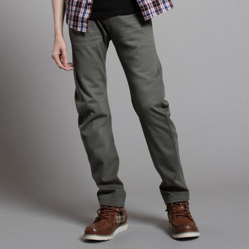 【5折優惠↘】EDWINW.FE-F迷彩貼合內裡保暖窄直筒褲-男款橄欖綠