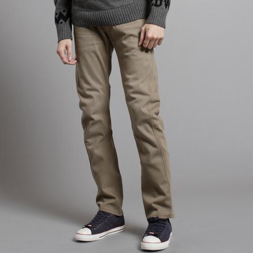 EDWIN E-F W.F迷彩內裡 保暖中直筒牛仔褲-男款 褐色 0