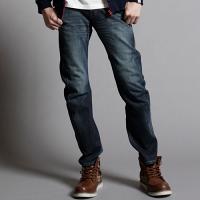 EDWIN 大尺碼 迷彩 保暖 直筒牛仔褲