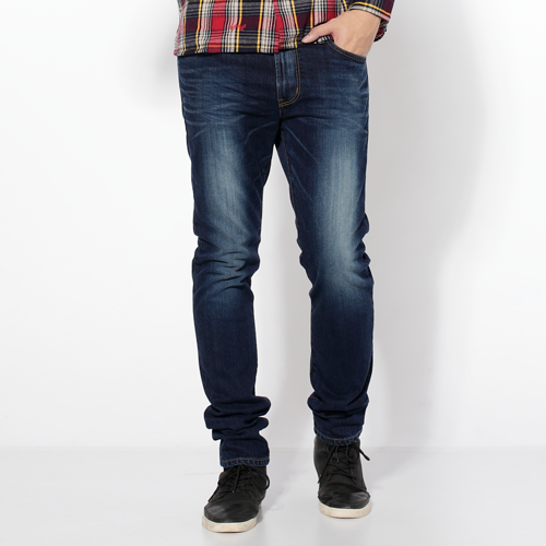 【換季最終波。任2件再9折優惠↘】EDWIN 503NARROW 英倫修身窄管褲-男款 拔洗藍 0