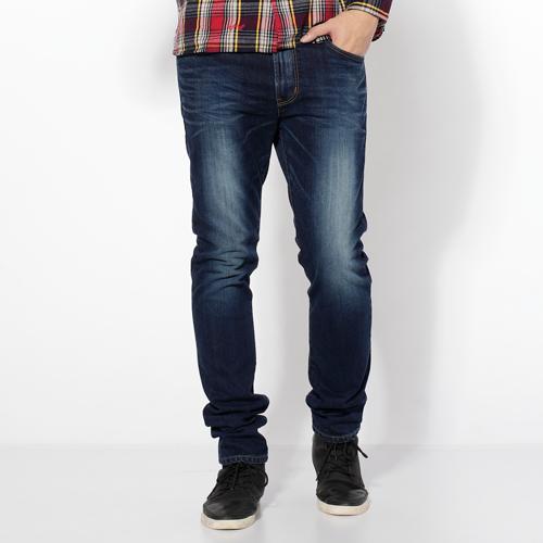 【新品送野餐墊↘】EDWIN 503NARROW 英倫修身窄管褲-男款 拔洗藍【9/30前指定新品單筆滿3800就送EDWIN迷彩野餐墊↘隨貨寄出↘】