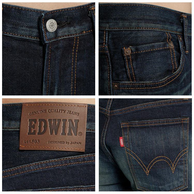 【新品上市↘】【超大尺碼】EDWIN 503NARROW 個性街頭直筒褲-男款 酵洗藍【單筆滿1500 | 結帳輸入序號Nov-edwin再折200↘數量有限↘限用一次】 1