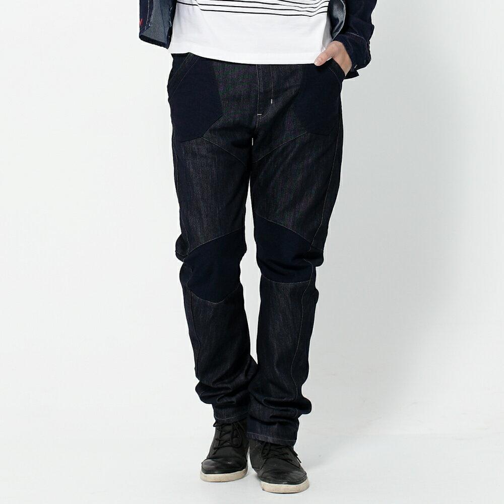 EDWIN E-FUNCTION 個性剪裁 機能3D牛仔褲-男款 原藍色 SLIM 1