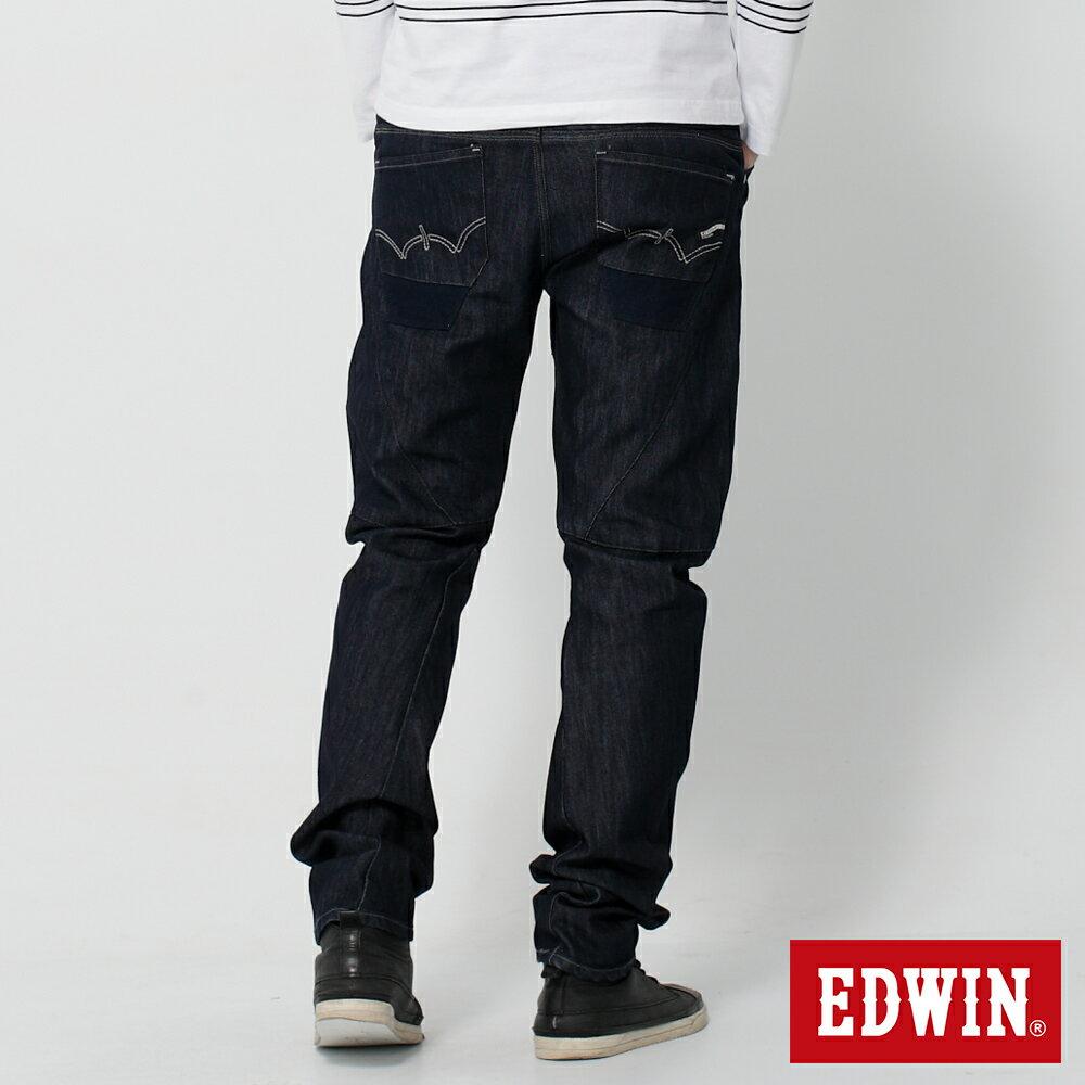 EDWIN E-FUNCTION 個性剪裁 機能3D牛仔褲-男款 原藍色 SLIM 2