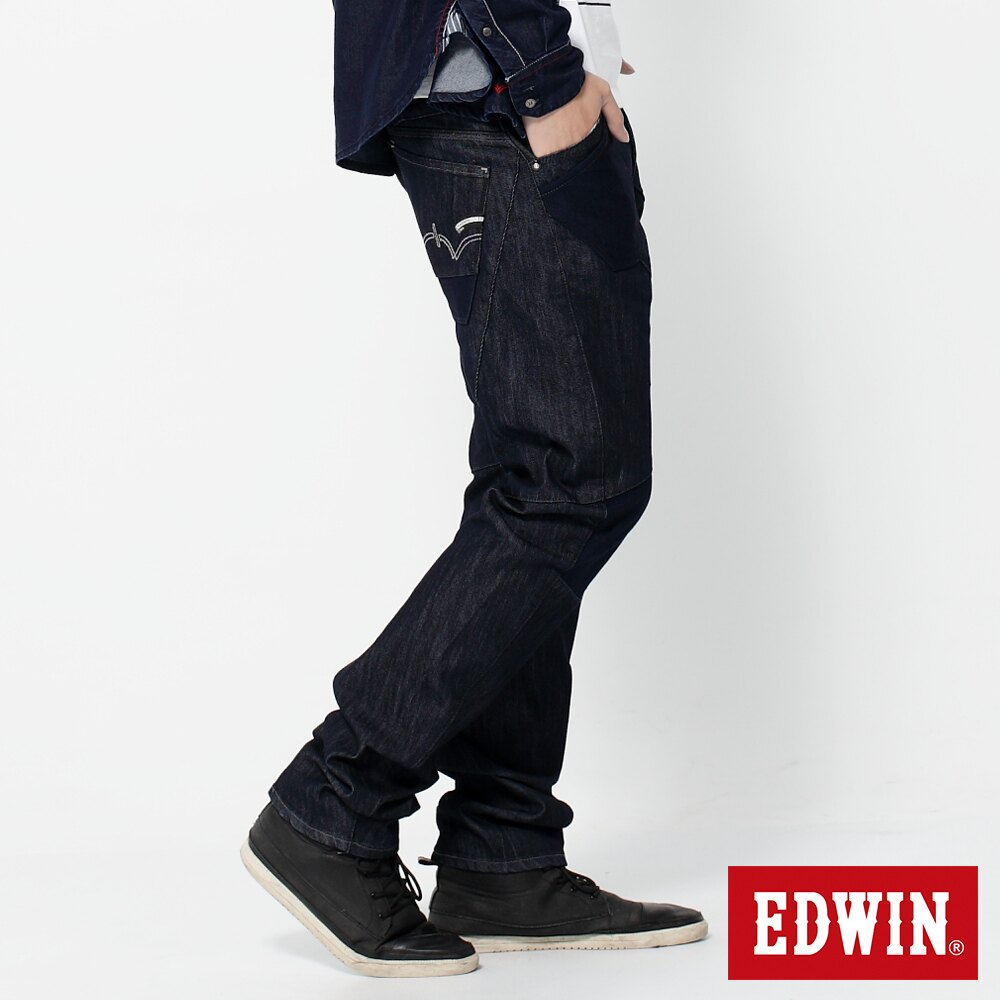 EDWIN E-FUNCTION 個性剪裁 機能3D牛仔褲-男款 原藍色 SLIM 3