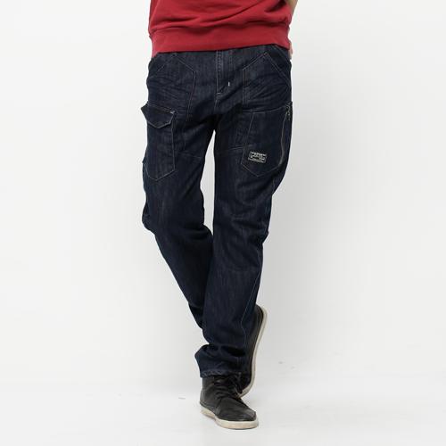 EDWIN E-FUNCTION  貼袋剪裁 機能3D牛仔褲-男款 原藍色 SILM 0