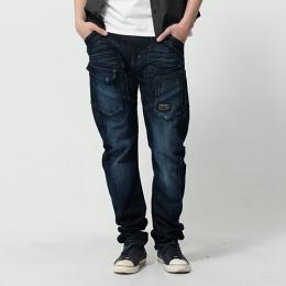 EDWIN E-FUNCTION 貼袋剪裁 機能3D牛仔褲-男款 酵洗藍 SLIM