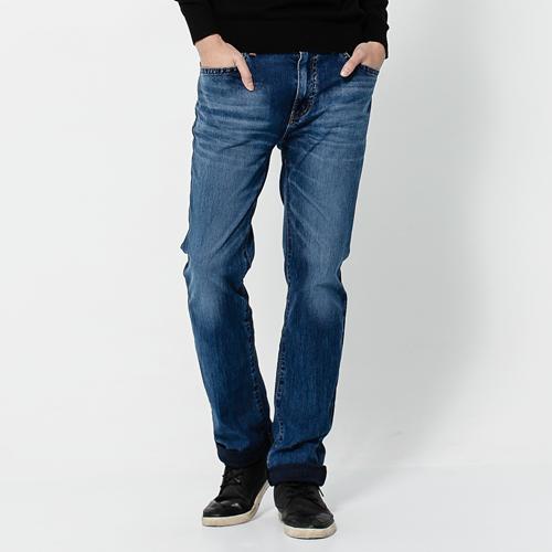 【2000元優惠↘】EDWIN  JERSEYS 迦績針織直筒牛仔褲-男款 石洗綠 0