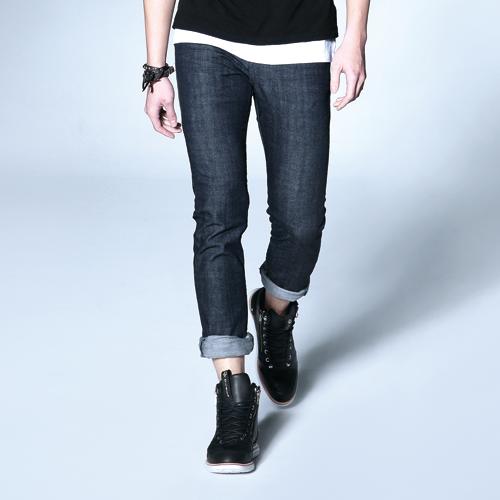 【新品上市↘】【大尺碼】EDWIN EDGE LINE 假袋蓋合身窄管牛仔褲-男款 原藍色【下單輸入限量代碼2K22030-1折220元↘序號限用一次↘】