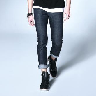 【9折優惠↘】【大尺碼】EDWIN EDGE LINE 假袋蓋合身窄管牛仔褲-男款 原藍色