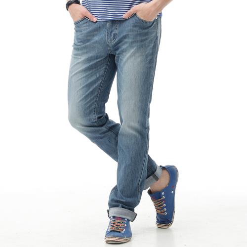【新品上市↘】【大尺碼】EDWIN JERSEYS 夏日迦績 舒適涼感AB褲-男款 石洗藍【APP下單滿799輸入代碼APP170625折100元↘序號限用一次↘】 0