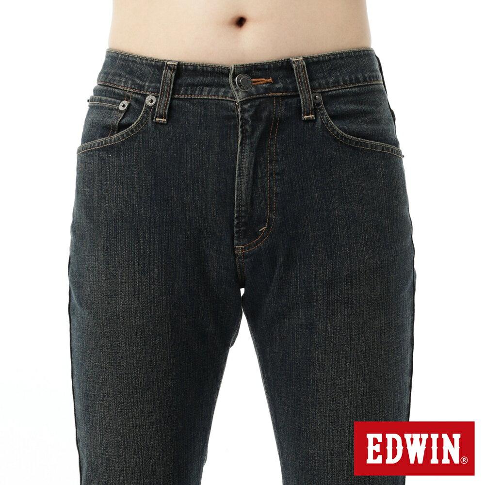 EDWIN 503 FLEX 大尺碼 基本五袋中直筒牛仔褲-男款 中古藍 STRAIGHT 4