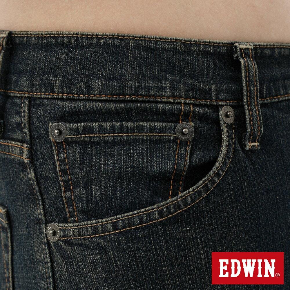 EDWIN 503 FLEX 大尺碼 基本五袋中直筒牛仔褲-男款 中古藍 STRAIGHT 6