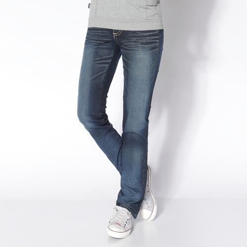 【生日慶最終檔。590丹寧補貨到↘】【零碼】EDWINMissEDGELINE552舒適牛仔小直筒褲-女款原藍磨【525-531限定販售】
