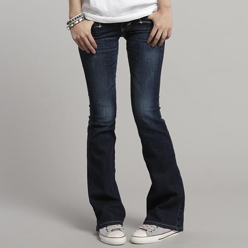 【990元優惠↘】Miss EDWIN 袋蓋靴型牛仔褲 女款 酵洗藍 0