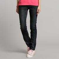 牛仔褲推薦到EDWIN Miss  W.F 紫黑格保暖 窄管牛仔褲-女款 酵洗藍 內裡貼合保暖材質 SLIM WARM PANTS 零碼就在EDWIN推薦牛仔褲
