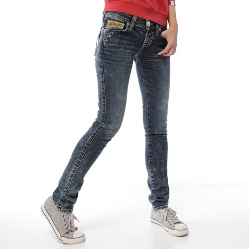 【5折優惠↘】Miss EDWIN BLUE TRIP 窄直筒褲-女款 石洗綠 0