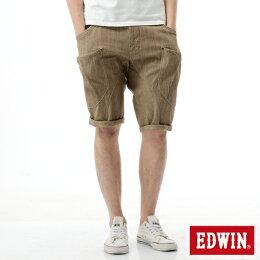 EDWIN EASY PANTS 口袋 休閒短褲 男款 卡其