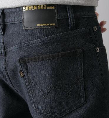 EDWIN W.F PREMIUM 大尺碼 保溫中直筒牛仔褲-男款 原藍色 STRAIGHT WARM PANTS 零碼 2