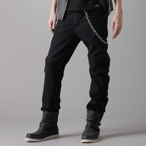 EDWIN W.F PREMIUM 保溫中直筒牛仔褲-男款 黑色 STRAIGHT WARM PANTS 0